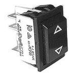 """Přepínač vypínač kolébkový 2pol./4pin (ON)-OFF-(ON) 250V/10A černý, bez aretace-vrací se do původní polohy """"profi"""""""