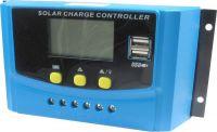 Solární regulátor PWM C-K40A, 12-24V/40A+2xUSB pro různé baterie LCD, vstupní napětí max. 50V
