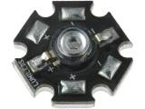 LED dioda výkonová 3W modrá, čirá 470 lm
