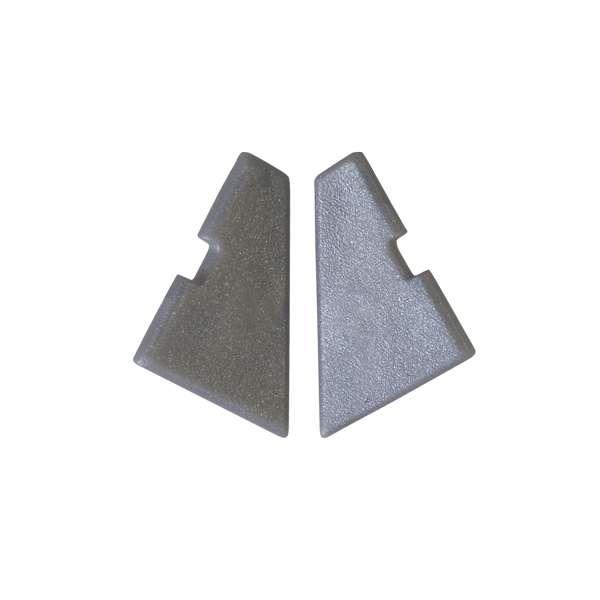 Plastová boční krytka rohového AL profilu na LED pásky ( pár )