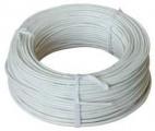 Kabel SYKFY 2x2x0,5 mm, kabel čtyřlinka sdělovací nestíněný, vhodný pro fotobuňky a klíčový spínač, PVC plášť kulatý, metráž