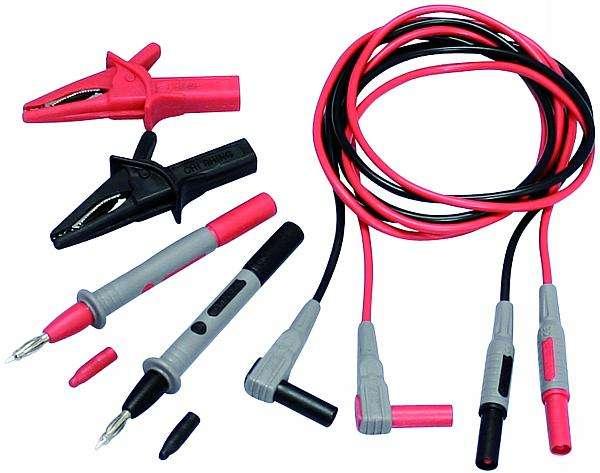 Měřící kabely k multimetru sada - SET PROFI - hrot, krokosvorka, banánek