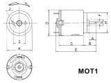 Motorek VZ-1, elektromotor na napětí 1,5-3V DC