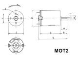 Motorek VZ-2, elektromotor na napětí 2.5-6V DC