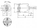 Motorek VZ-3, elektromotor na napětí 6-14V DC