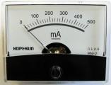 Panelové měřidlo ampermetr PMA-500mA-DC 60x47mm