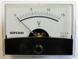 Panelové měřidlo-analogový voltmetr PMA-15V-DC 60x47mm