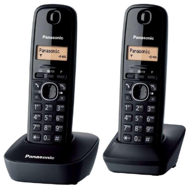 Panasonic KX TG1612FXH DUO DECT přenosný bezdrátový telefon na pevnou linku