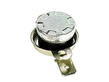 Termostat teplotní bimetalový L-100 NC-rozepínací vratný 100°C 10A/250V-náhradní díl na fastony