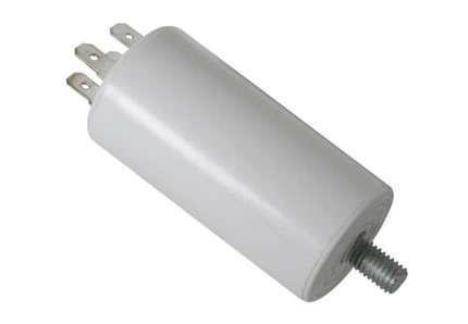 Kondenzátor rozběhový motorový 6µF/450V s vývody na fastony