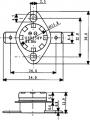 Termostat teplotní bimetalový H-070 NC-rozepínací vratný 70°C 10A/250V-náhradní díl na fastony