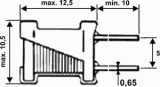 Tlumivka 100µH radiální typ O9P (COIL)