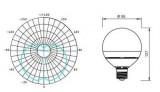 Žárovka LED E27/230V SA 12W - teplá bílá úhel svitu 260°