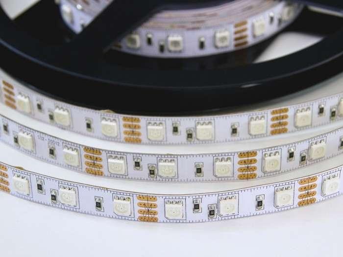 LED pásek RGB W300SMD 60LED/m samolepící IP55 voděodolný, spotřeba 14,4W/m, cena za 1m