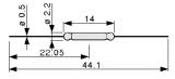 Jazýčkový kontakt KSK1A66-1020 magneticky spínaný-spínací
