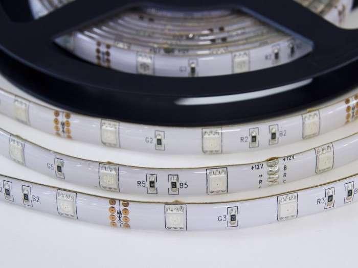 LED pásek RGB W150SMD 30LED/m samolepící IP55 voděodolný, spotřeba 7,2W/m, cena za 1m