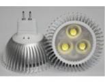 LED žárovka 12V DC MR16 4W bílá studená BRIDGELUX
