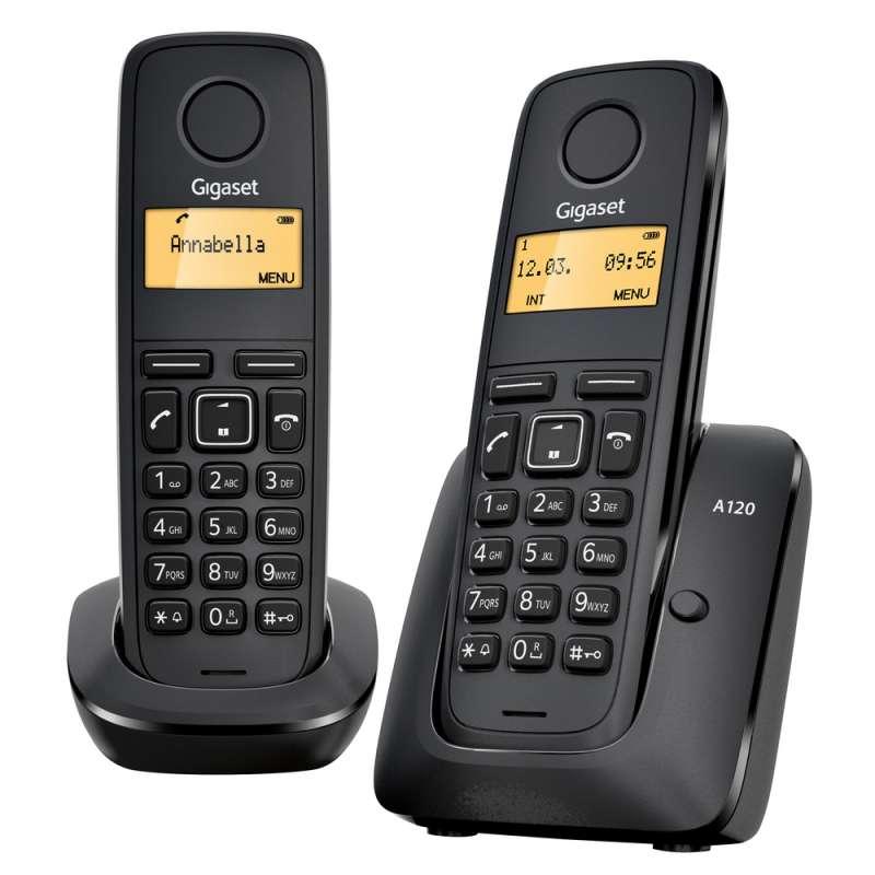 SIEMENS A120 DECT DUO set GIGASET přenosný bezdrátový telefon na pevnou linku